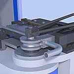 Tube bending machine tool area